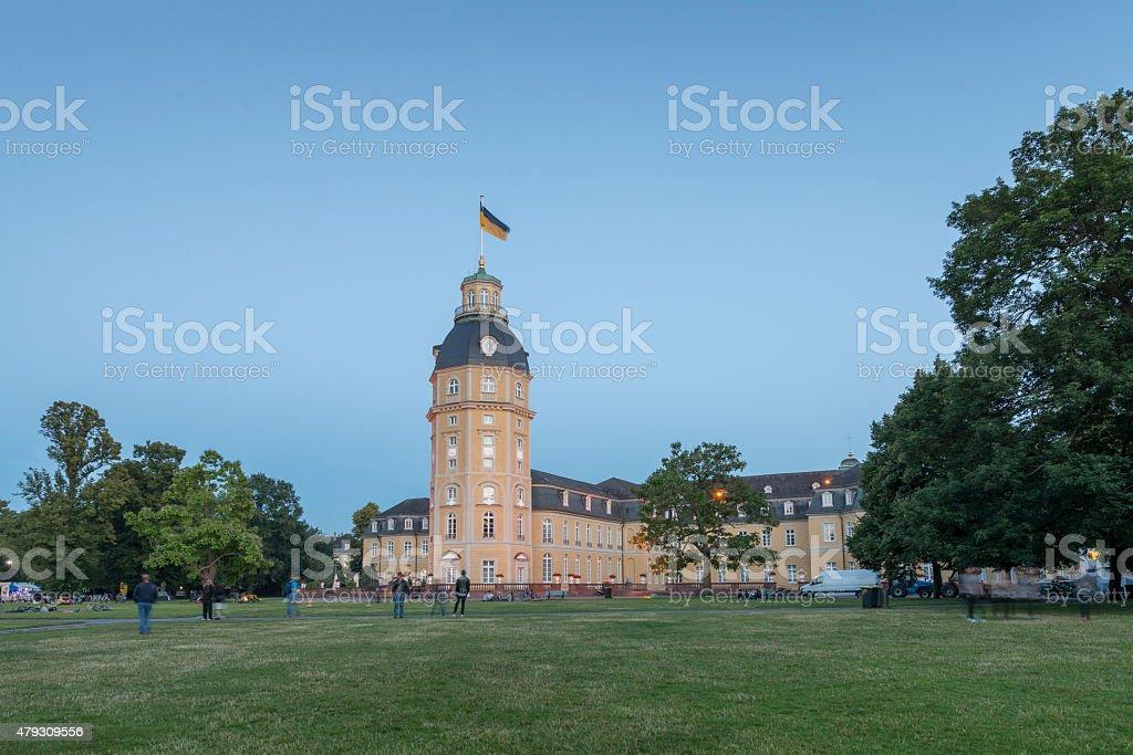 Karlsruhe castle garden ( palace garden ) stock photo