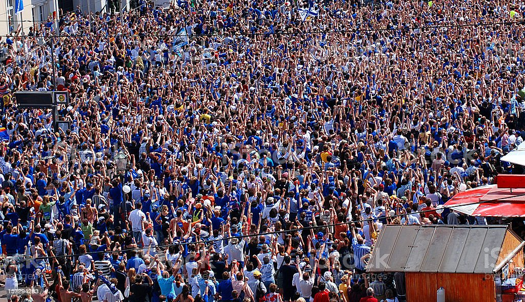 karlsruher SC soccer fans stock photo