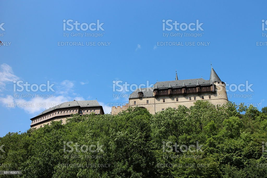 Karlstein Castle - Czech Republic stock photo