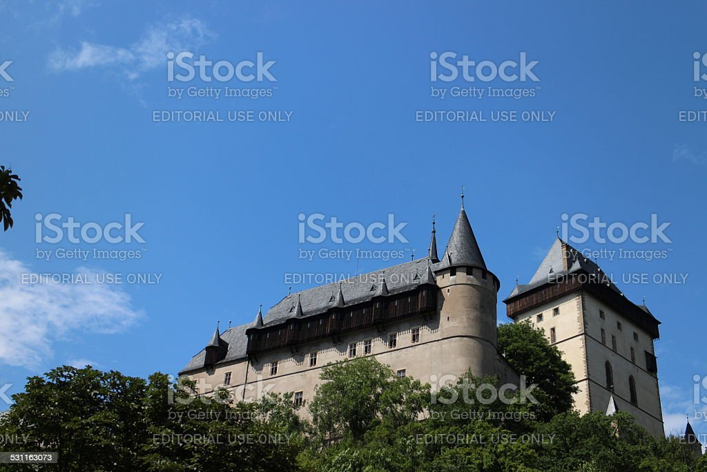 Karlstein Castle in Europe stock photo