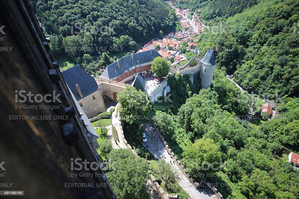 Karlstein Castle main tower stock photo