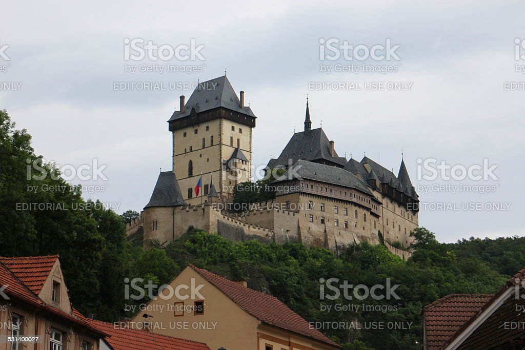 Karlstein Castle stock photo