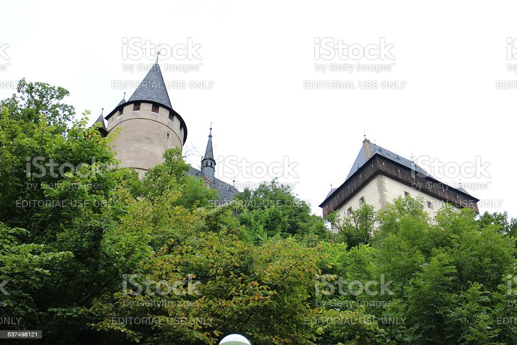 Karlstein Castle (Czech Republic) stock photo