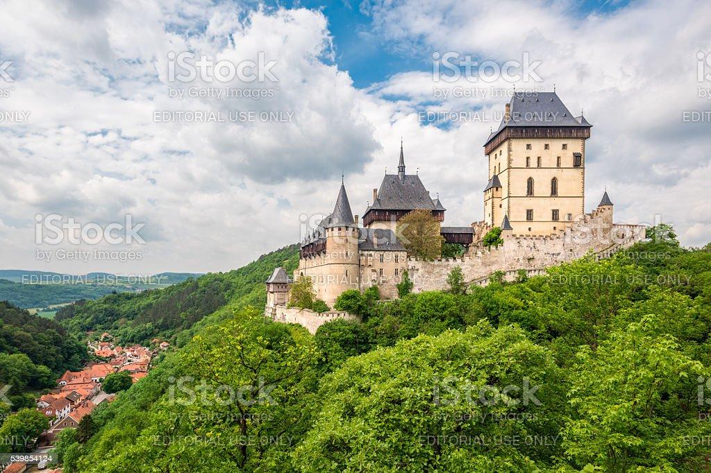 Karlstein Castle stock photo