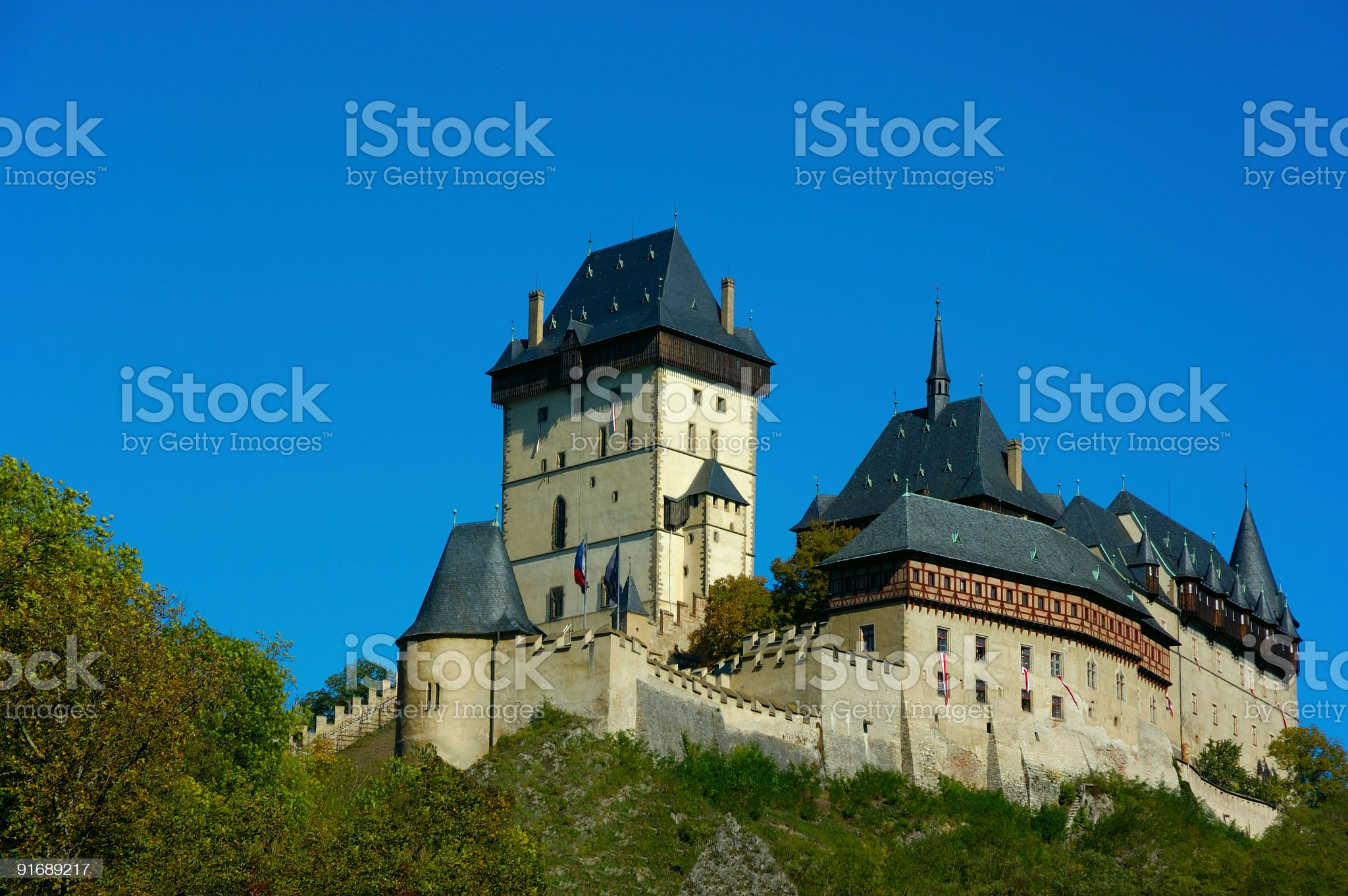 Karlstein Castle royalty-free stock photo
