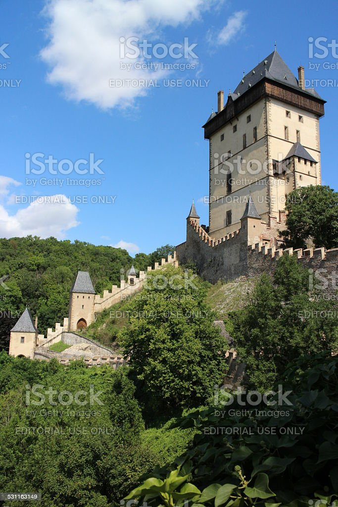 Karlstein stock photo