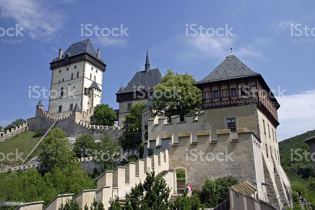 Karlstejn Castle stock photo