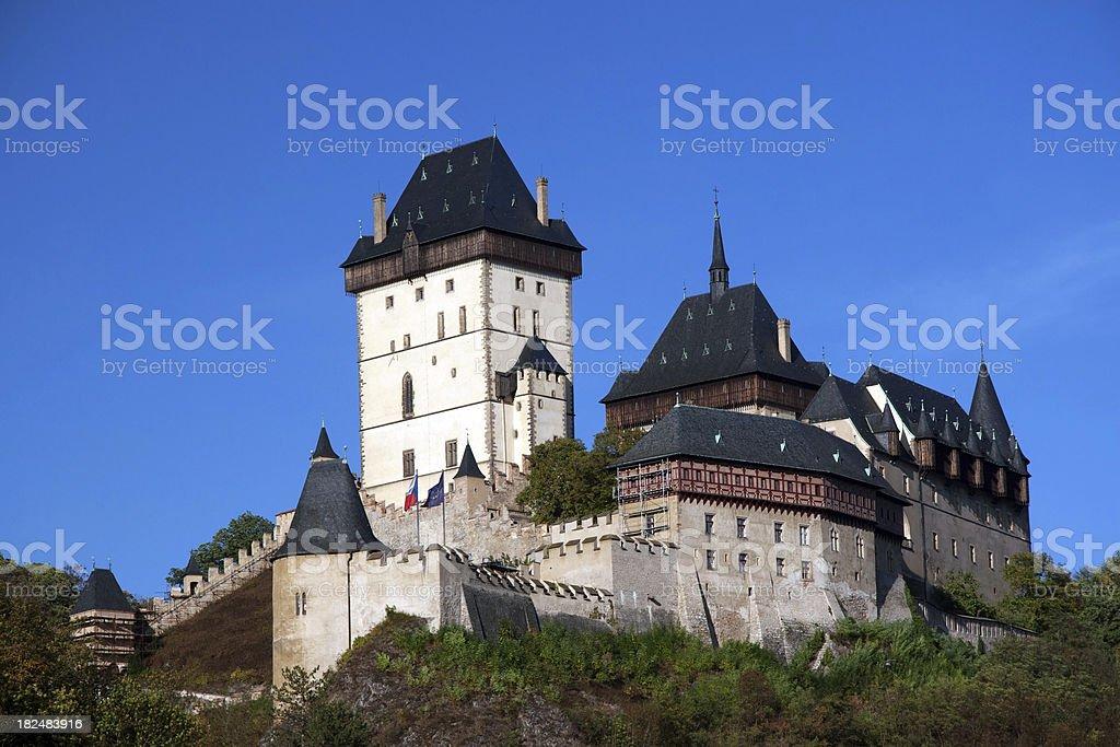 Karlstejn castle royalty-free stock photo