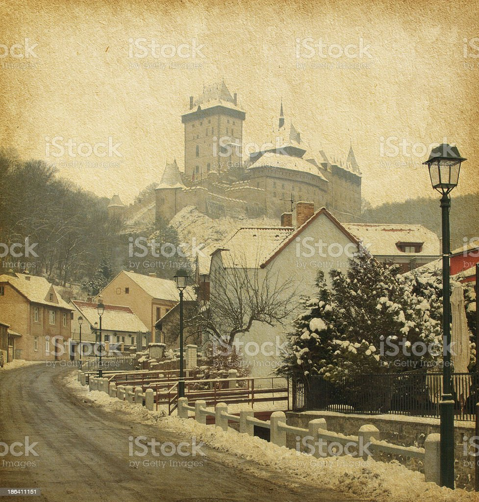 Karlstejn Castle royalty-free stock photo