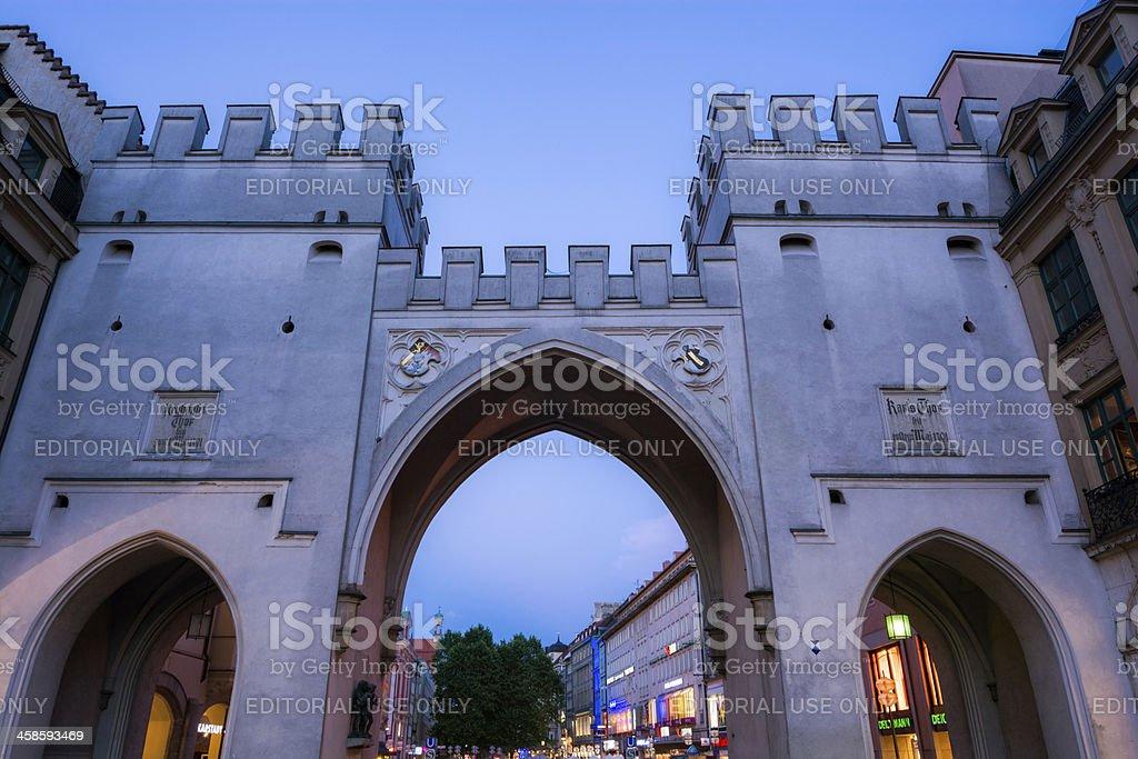 Karlstor city gate near Karlsplatz in Munich, Germany royalty-free stock photo
