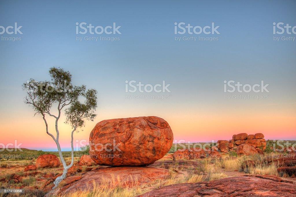 Karlu Karlu - Devils Marbles in outback Australia stock photo