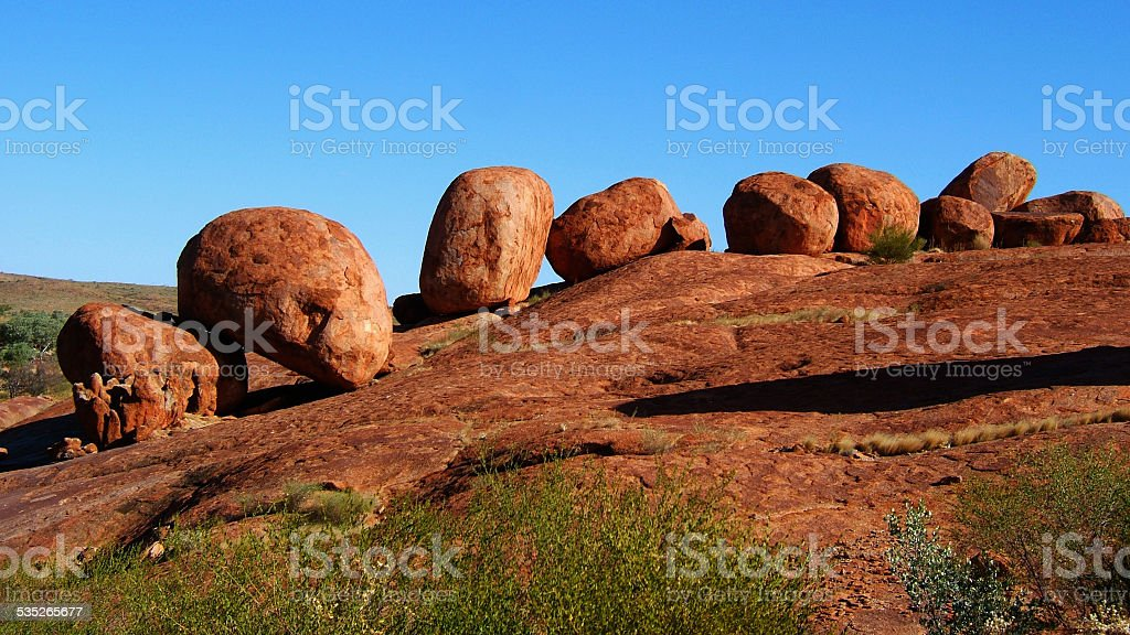 Karlu Karlu / Devils Marbles, Northern Territory, Australia stock photo