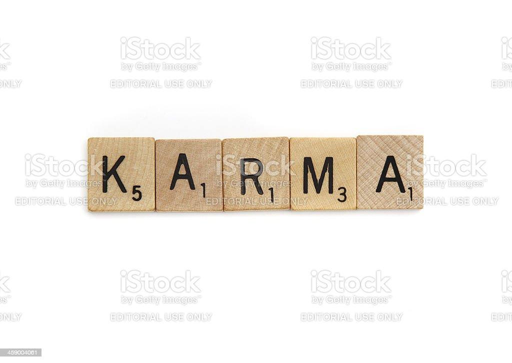 Karma royalty-free stock photo