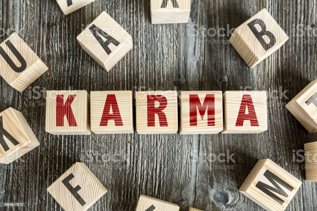 Karma stock photo