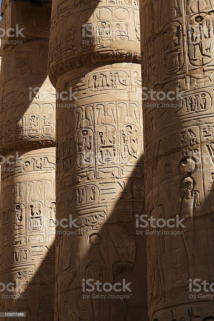 Karnak pillars royalty-free stock photo
