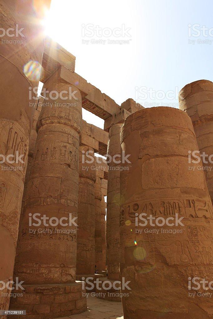 Karnak Temple - Amun Hypostyle Hall stock photo