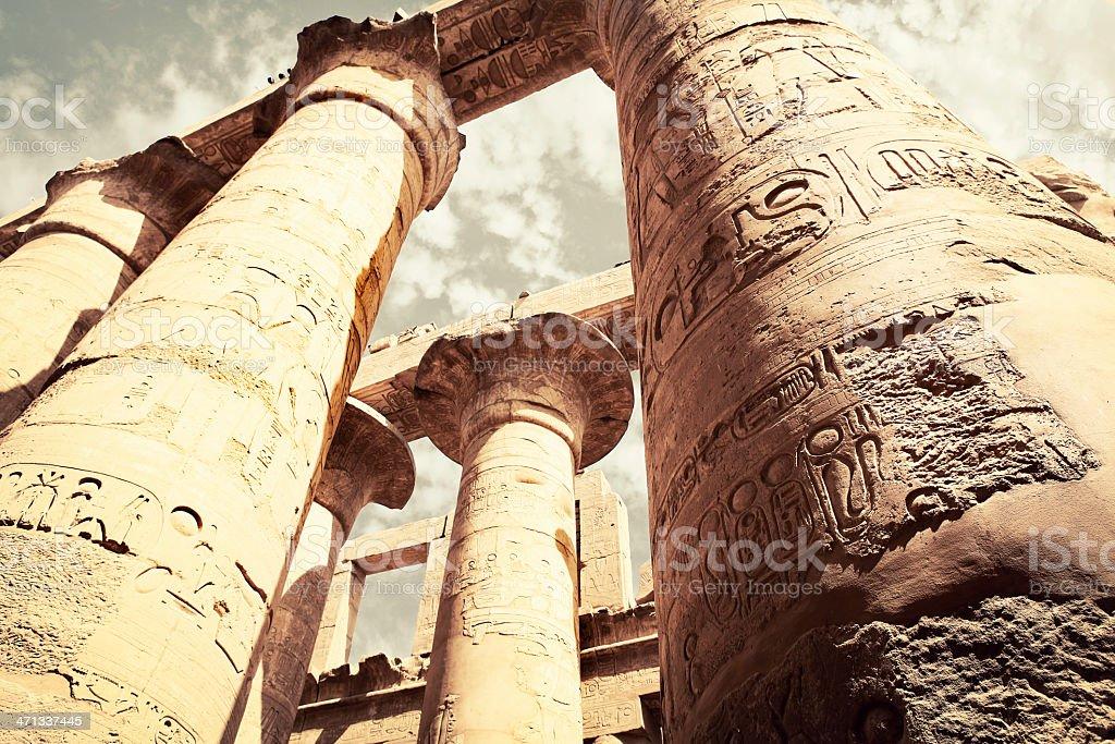 Karnak Temple - Amun Hypostyle Hall royalty-free stock photo