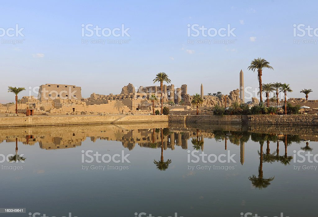Karnak temple at dawn stock photo