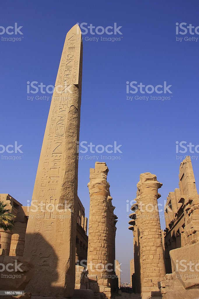 Karnak temple complex, Luxor royalty-free stock photo