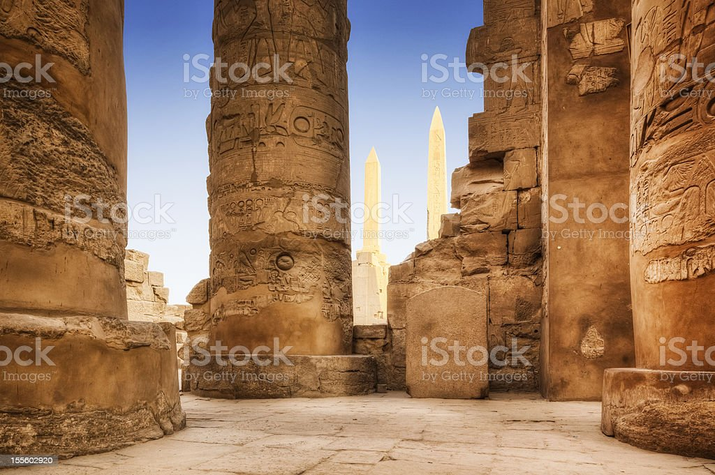 Karnak Temple Complex stock photo