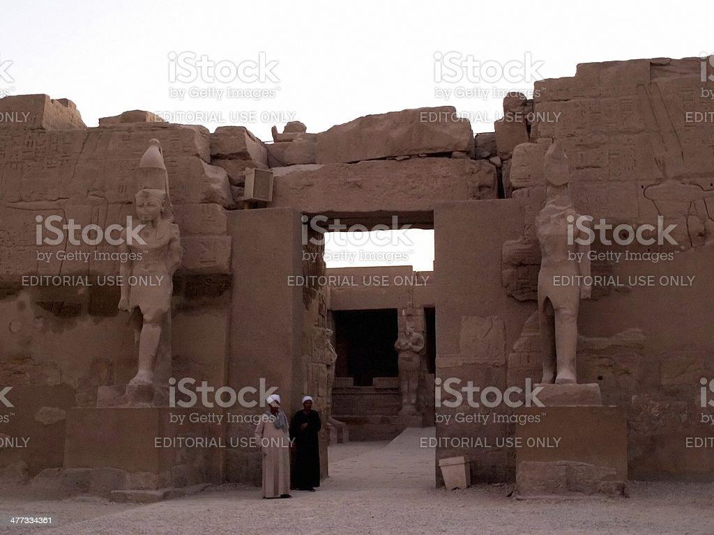 karnak temple in egypt royalty-free stock photo