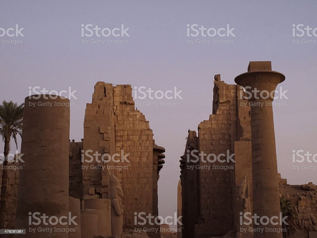 karnak temple in egypt royalty-free stock photo