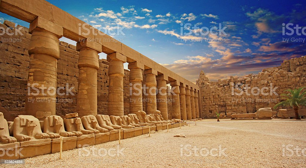 Karnak Temple (Thebes) in Luxor. Egypt stock photo