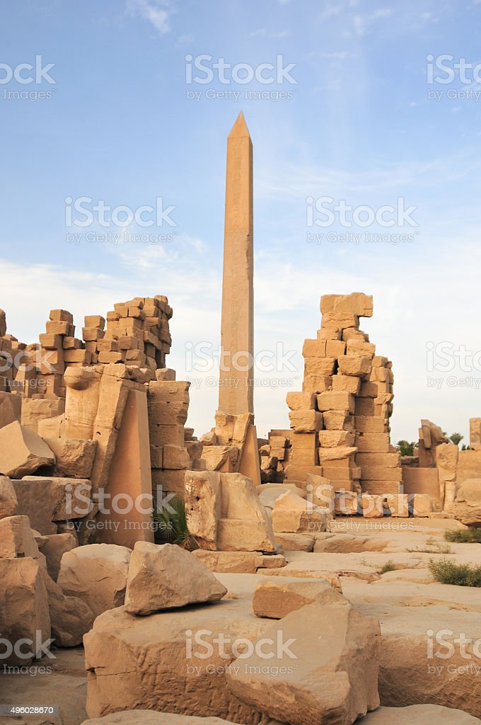 Karnak Temple - Luxor, Egypt, Africa stock photo