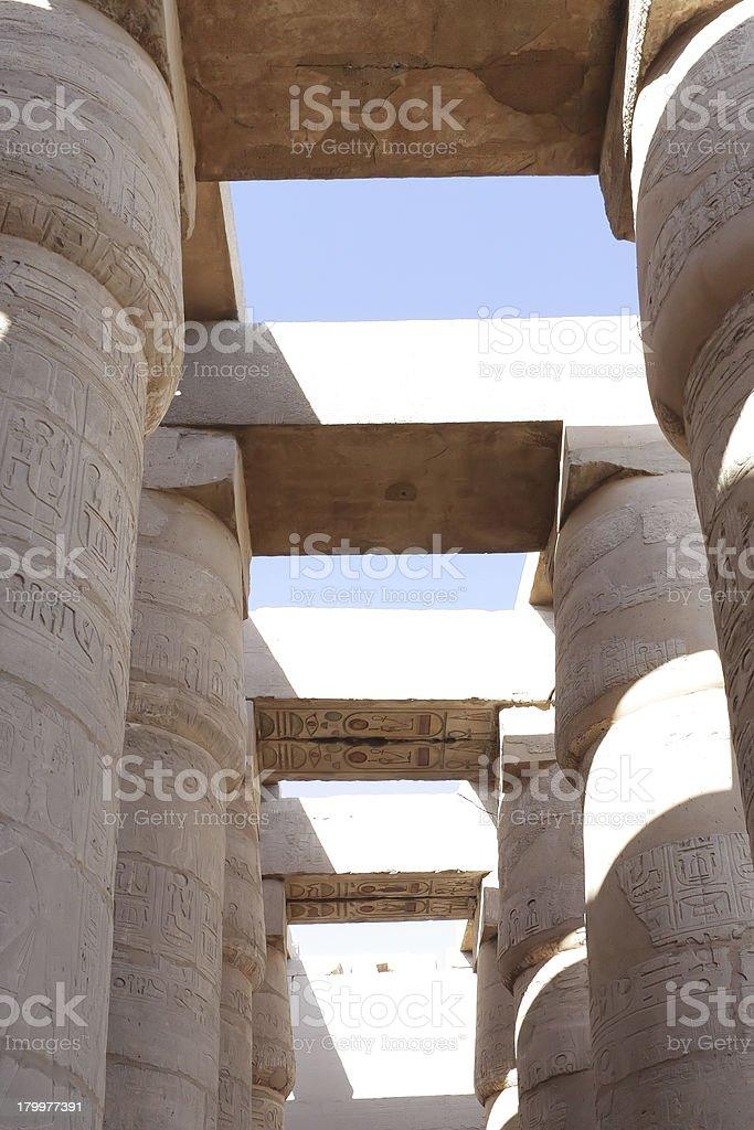 Karnak Temple , Luxor, Egypt. stock photo