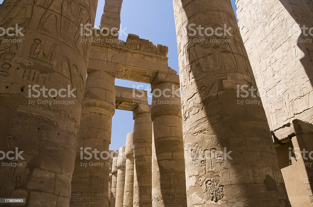 Karnak temple royalty-free stock photo