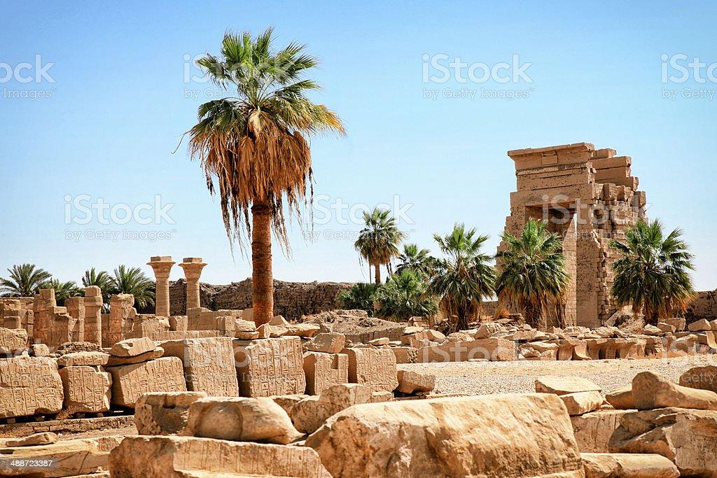 Karnak Temple - Temple of Ramesses II stock photo