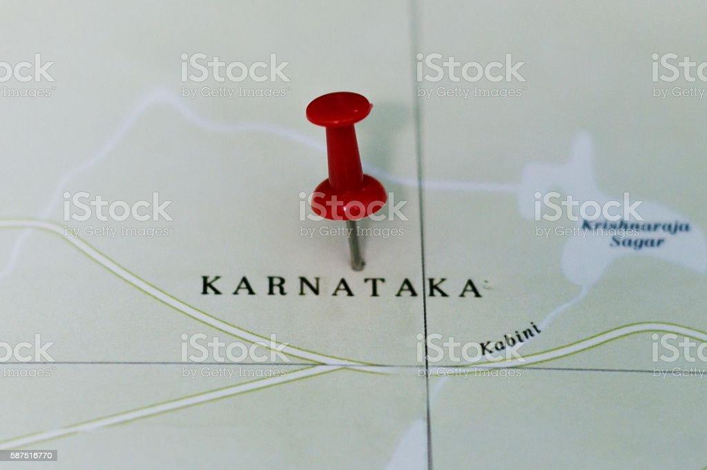 Karnataka map stock photo