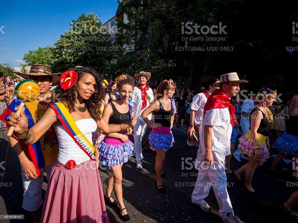 Karneval der Kulturen Berlin, Germany royalty-free stock photo