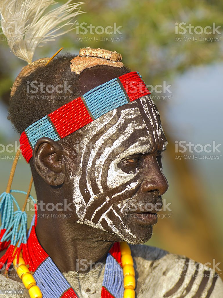 Karo man royalty-free stock photo