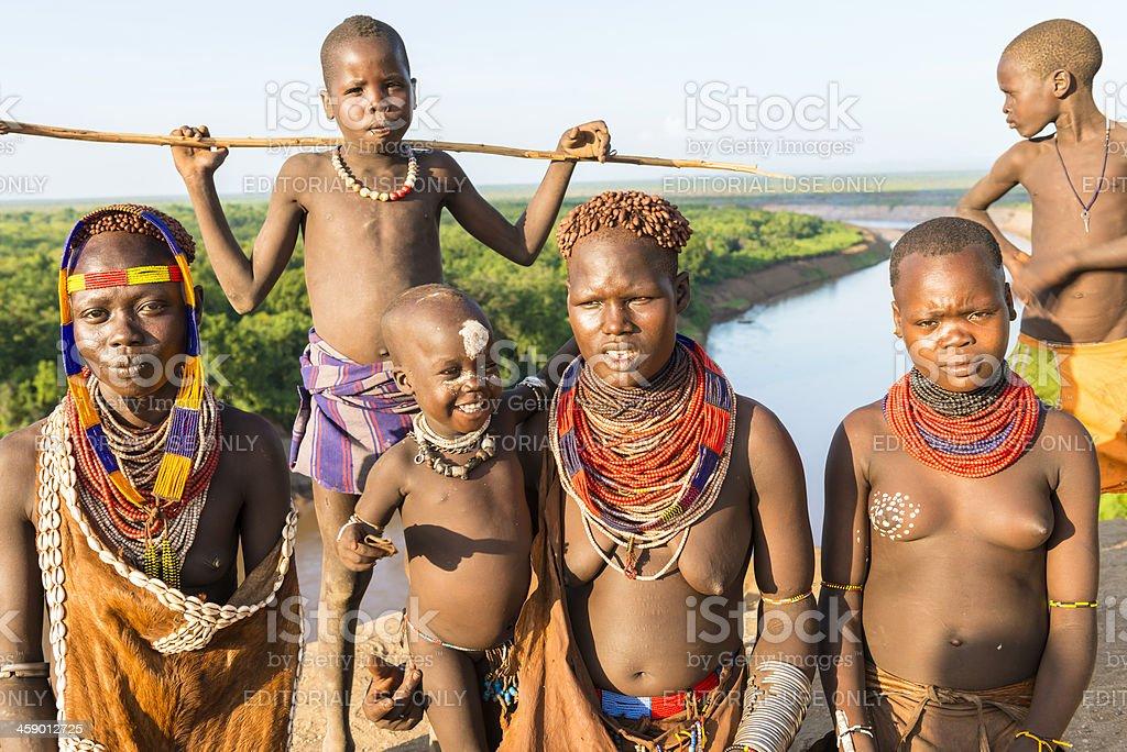 Karo tribe royalty-free stock photo