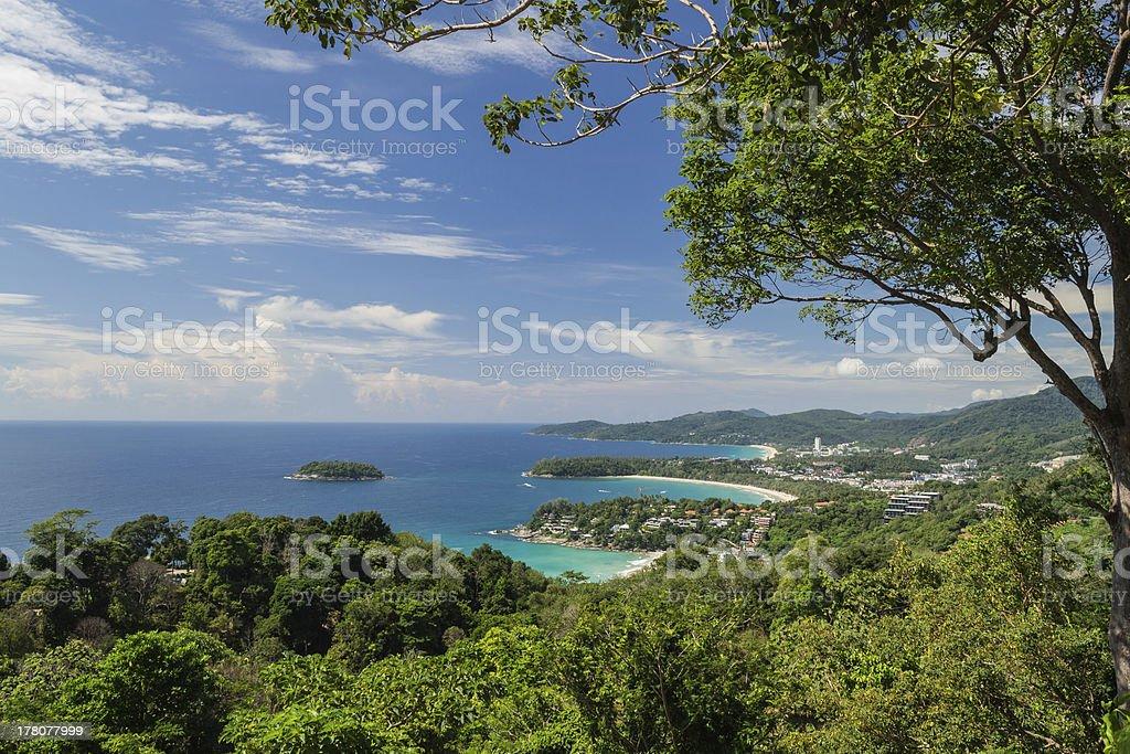 Karon view point, Phuket, Thailand stock photo