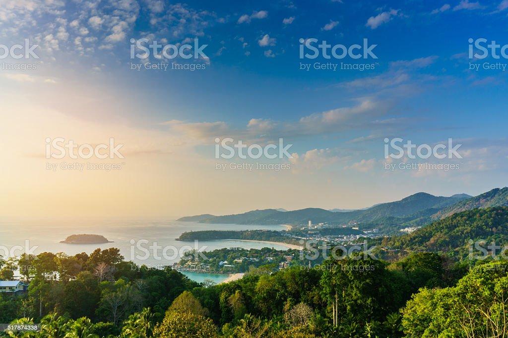 Karon view point Phuket Thailand stock photo