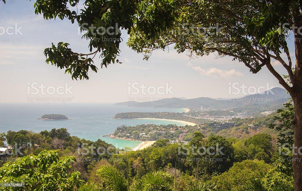 Karon Viewpoint Panorama stock photo