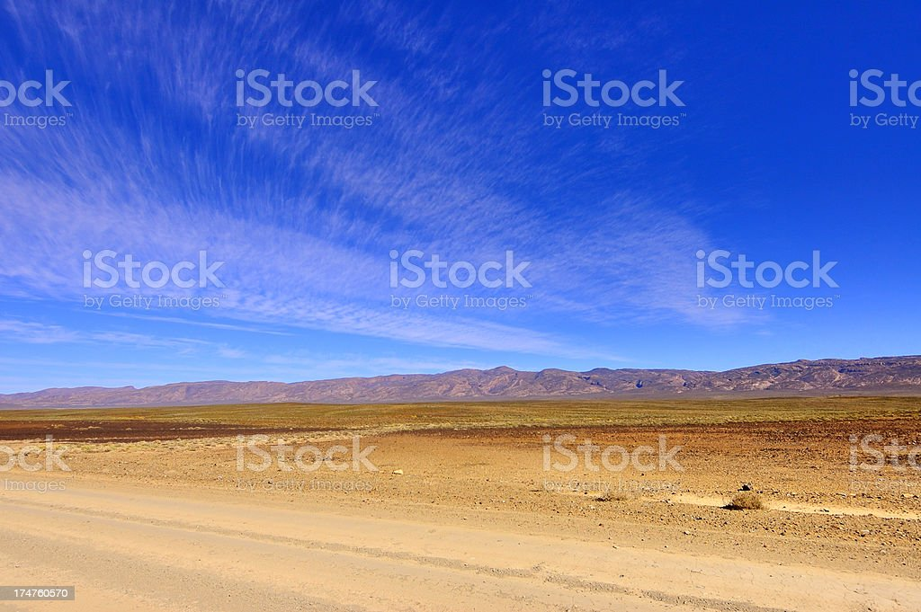 Karoo Lanscape Clouds stock photo