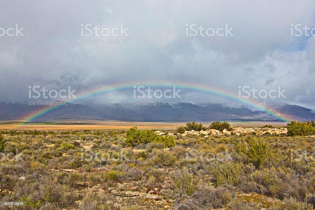 Karoo Rainbow stock photo