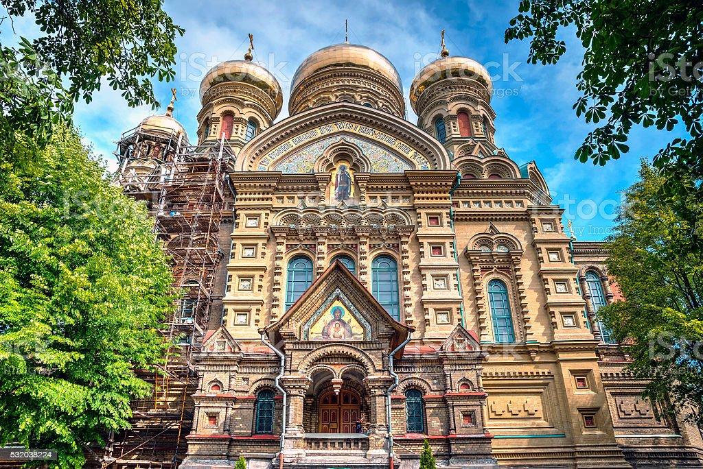 Karosta orthodox church in Liepaja stock photo