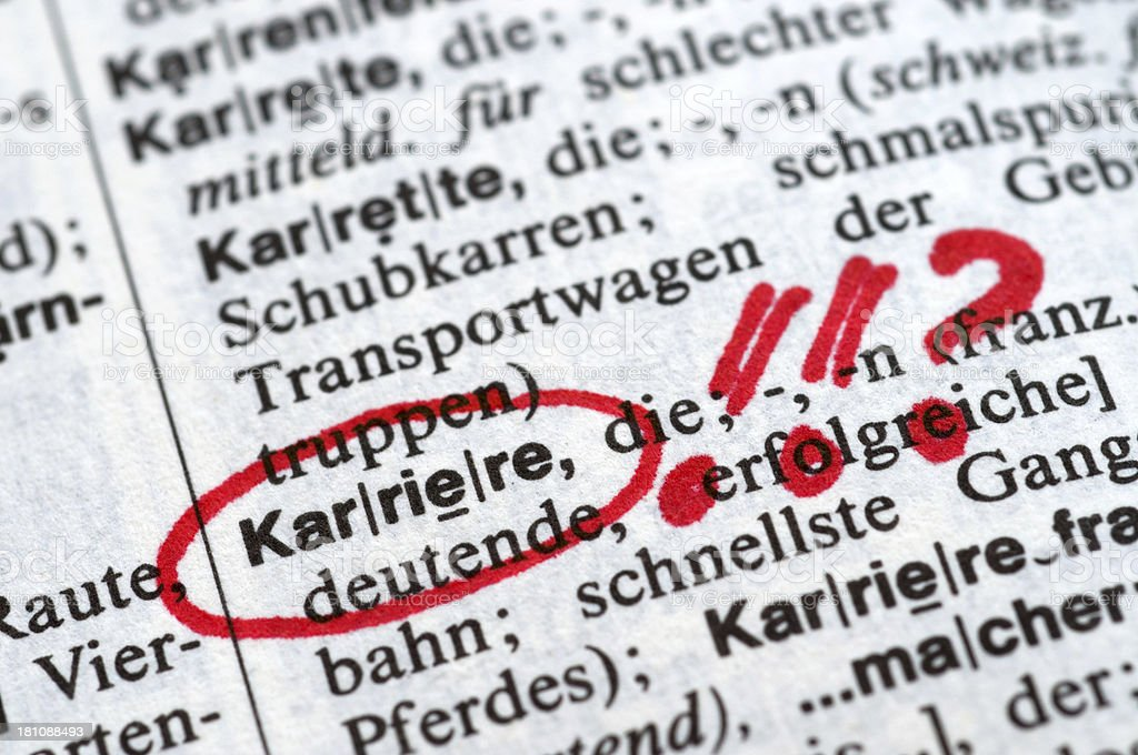 Karriere - German word drawing royalty-free stock photo