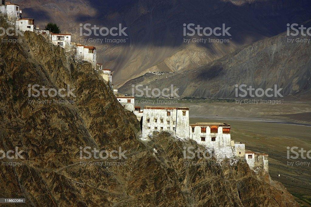 Karsha monastery in Zanskar range stock photo