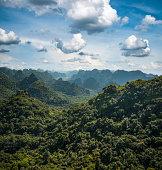 Karst Landscape On Cat Ba Island In Halong Bay, Vietnam