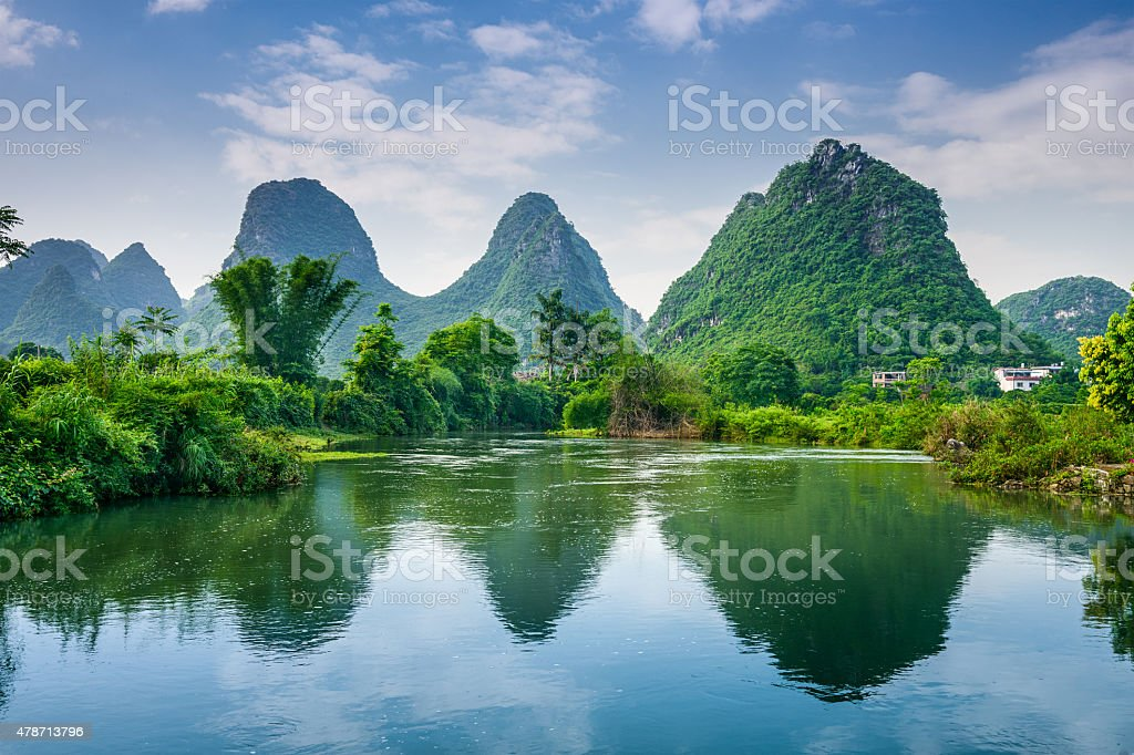 Karst Mountains of Guilin stock photo