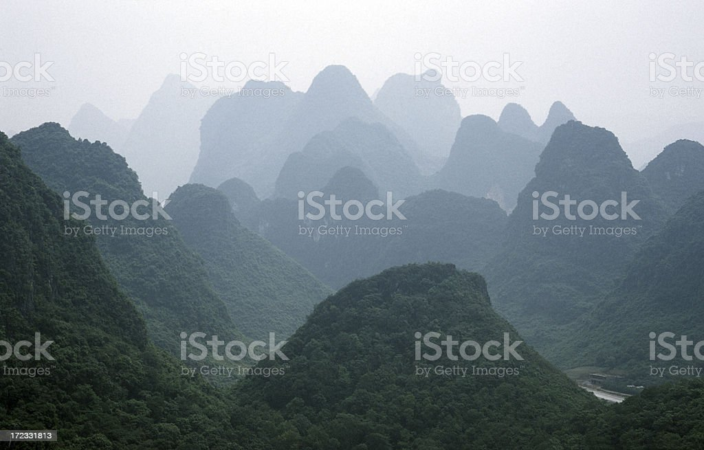 Karst mountains stock photo