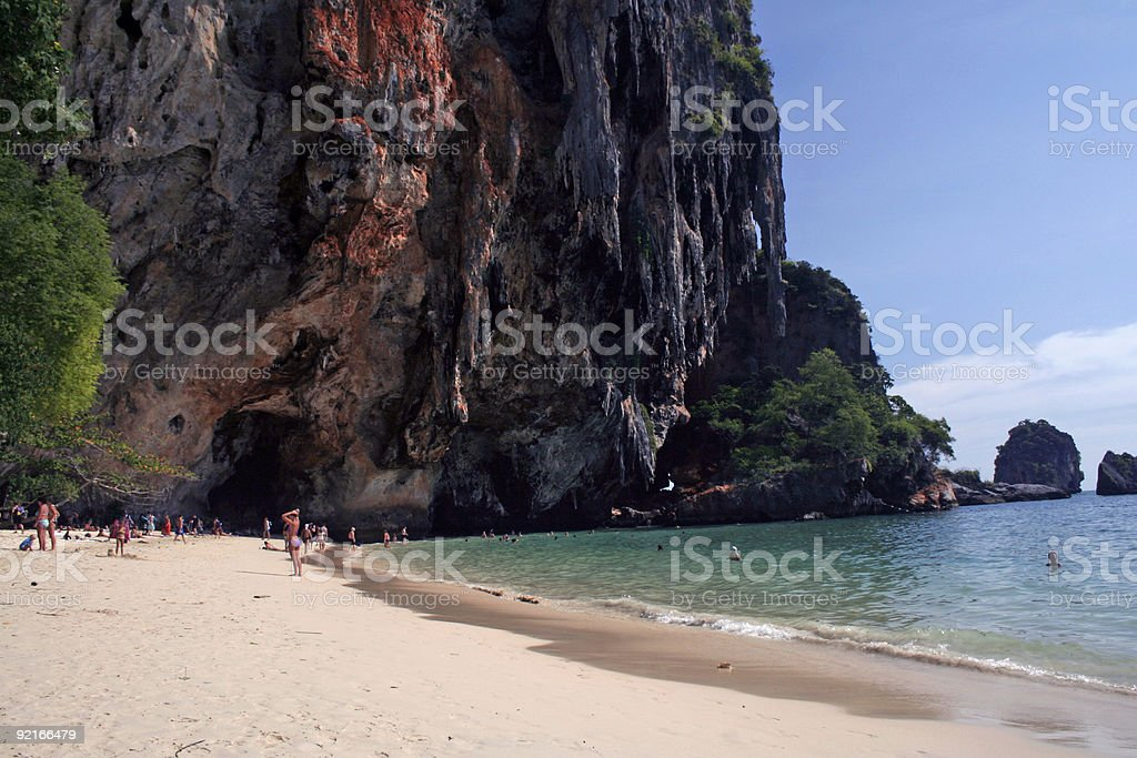 karst rock formation railay beach thailand royalty-free stock photo