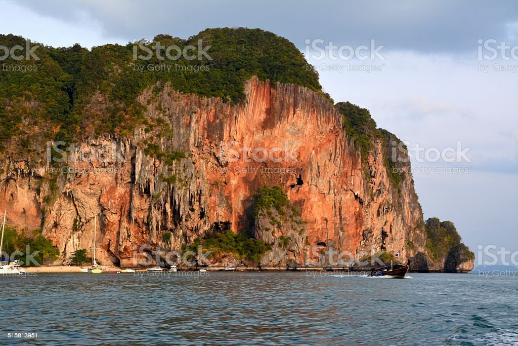 Karst rock formations, Krabi province - Thailand stock photo