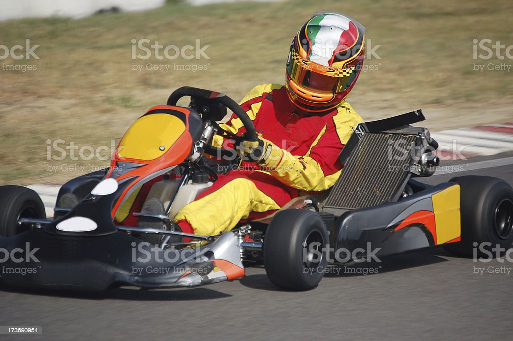 Kart in action royalty-free stock photo