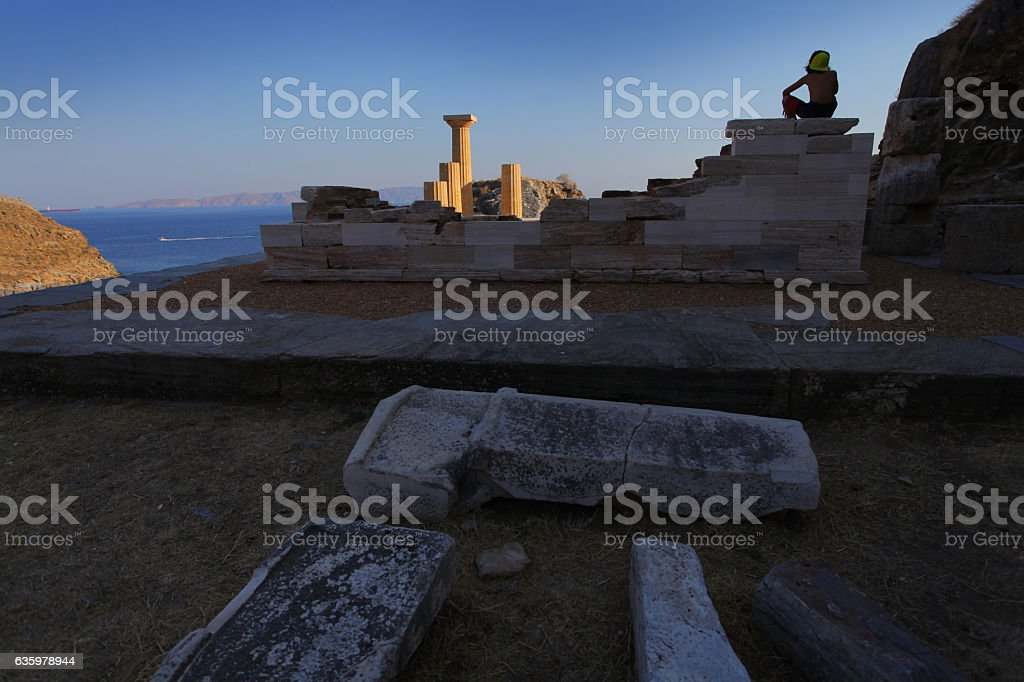 Karthea, Kea, Cyclades, Greece stock photo